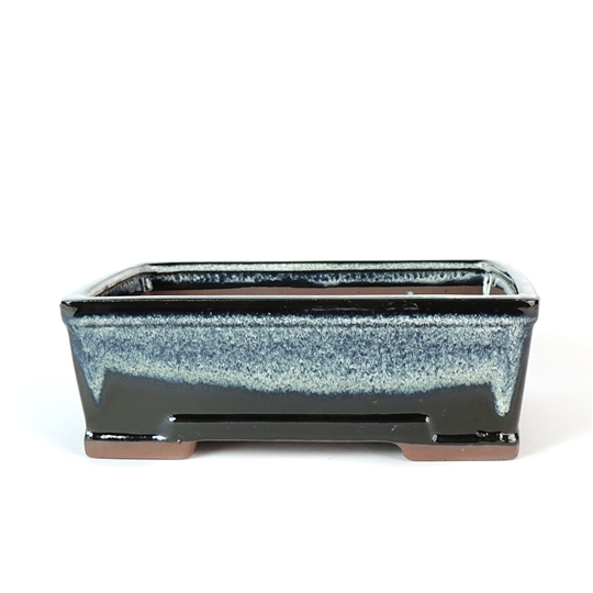 "8.5"" Midnight Ombre Modern Rectangle Pot"