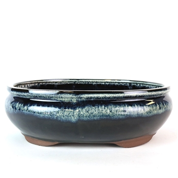 "12"" Midnight Ombre Oval Pot"