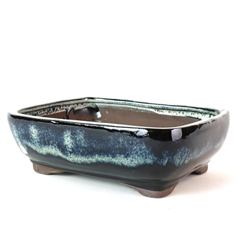 "8.5"" Midnight Ombre Rounded Rectangle Pot"