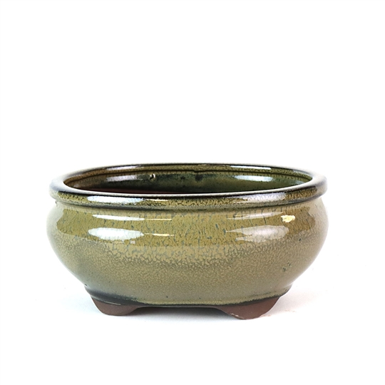 "6"" Tan Tall Oval Pot"