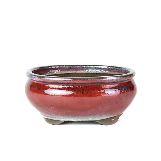 "6"" Red Tall Oval Pot"