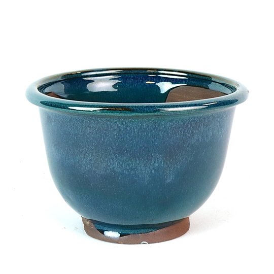 "6.5"" Teal Round Cascade Pot"
