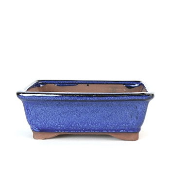 "6.5"" Blue Traditional Rectangle Pot"