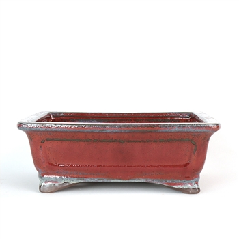 "8"" Red Traditional Rectangle Pot"