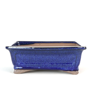 "8"" Blue Traditional Rectangle Pot"