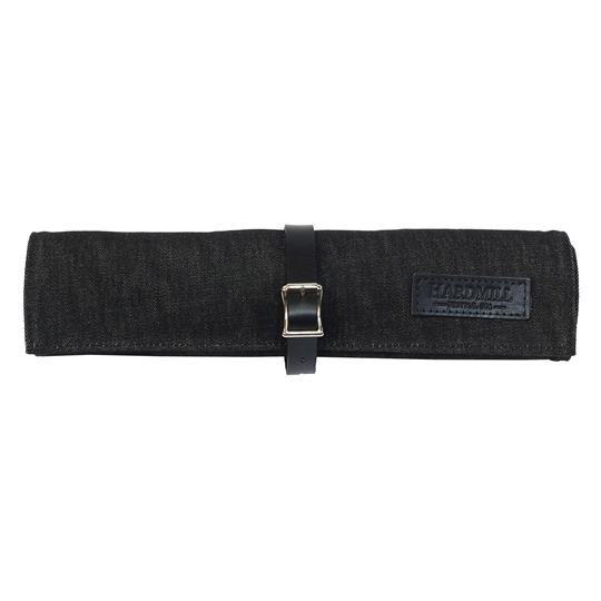 Waxed Denim Bonsai Tool Roll - Black