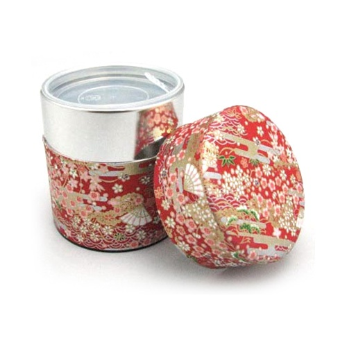Loose Leaf Tea Container - Japanese Print Red