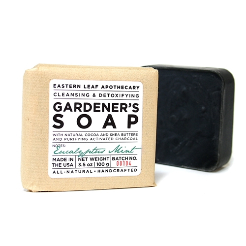 Gardener's Soap with Activated Charcoal - Eucalyptus Mint