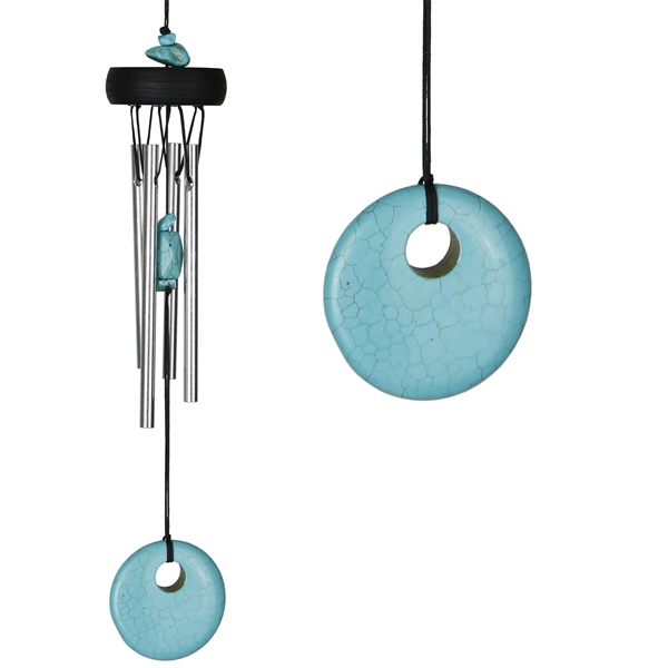 Woodstock Precious Stone Chime Turquoise