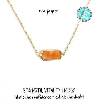 Red Jasper Stoneflake Bar Necklace