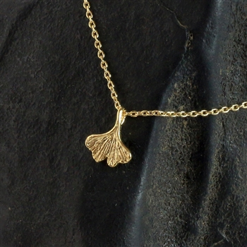 Gold Ginkgo Leaf Necklace