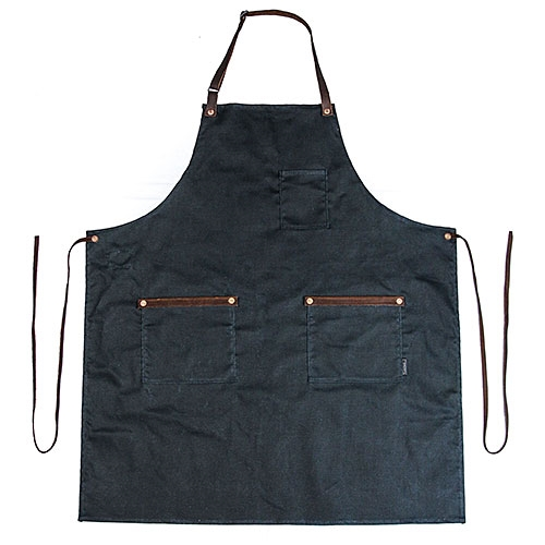 Waxed Denim Bonsai Apron - Blue