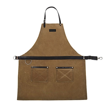 Waxed Canvas Bonsai Apron -Tan