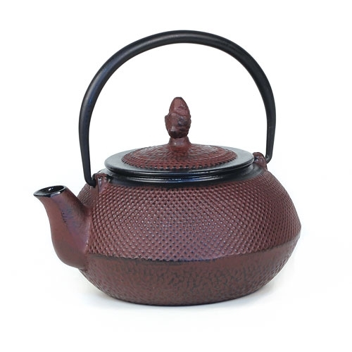 Diamond Textured 24 fl oz Cast Iron Teapot