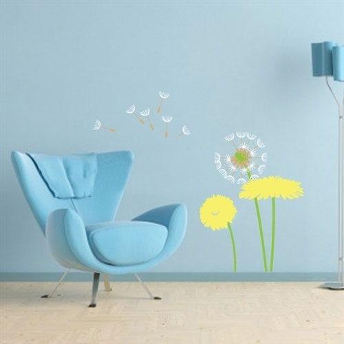 Floating Dandelions  Wall Decal