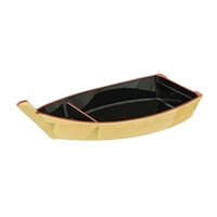 Yellow Sushi Boat with Red Trim