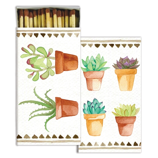 Large Matchbox - Watercolor Succulents