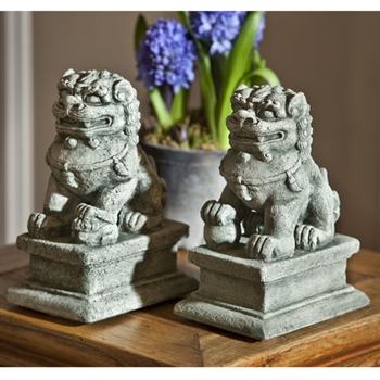 Small Temple Foo Dog Left and Right